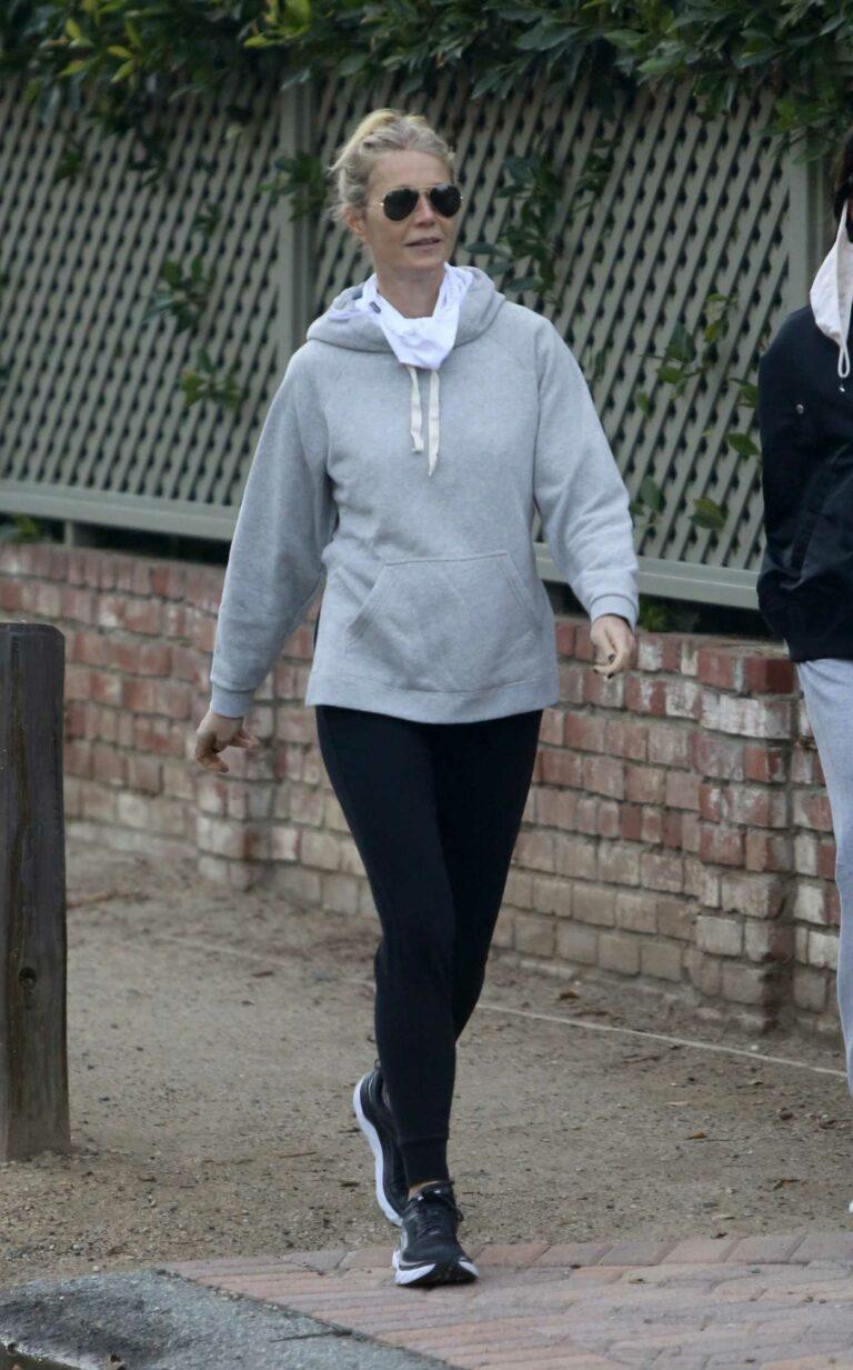 Gwyneth Paltrow in a Grey Hoodie