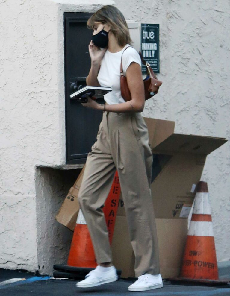 Kaia Gerber in a White Sneakers