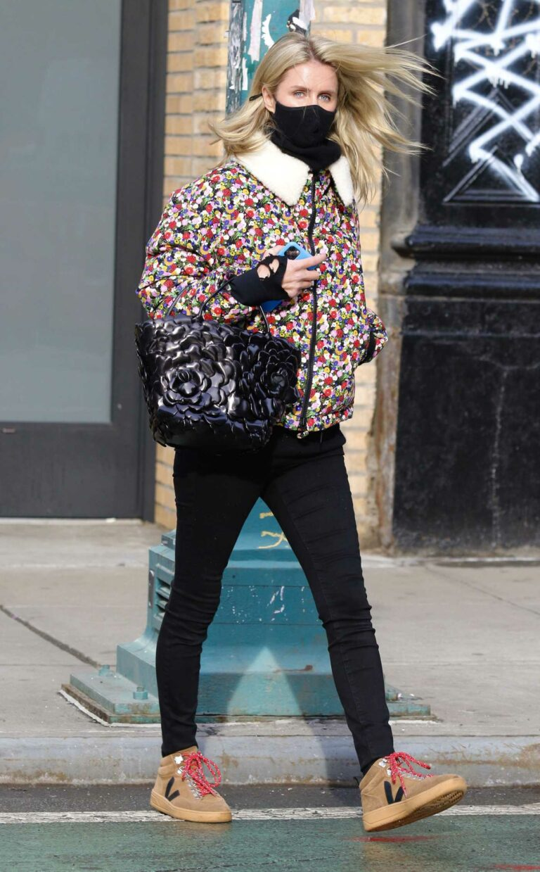 Nicky Hilton in a Floral Jacket