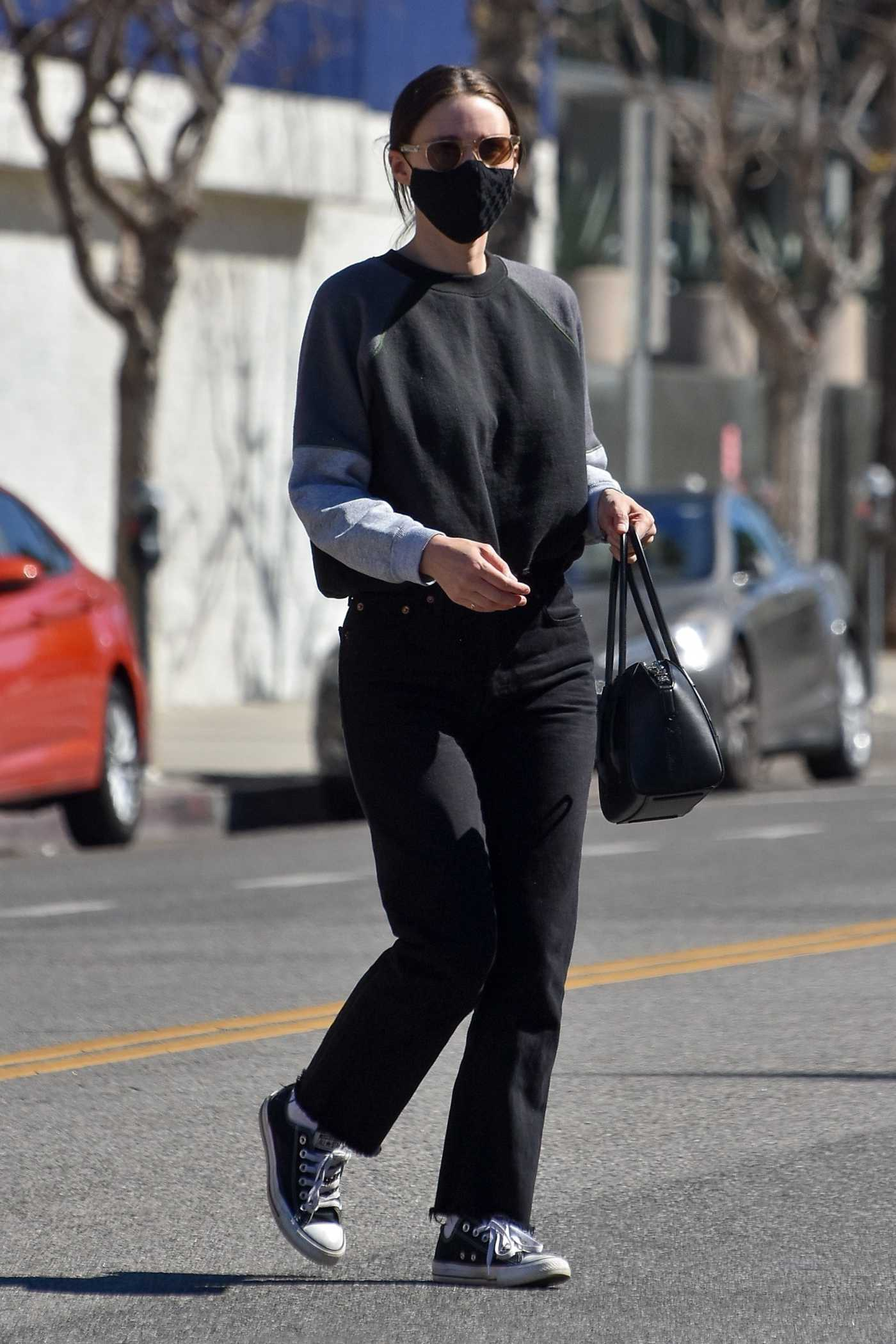 Rooney Mara in a Black Outfit Was Spotted in Studio City 02/22/2021