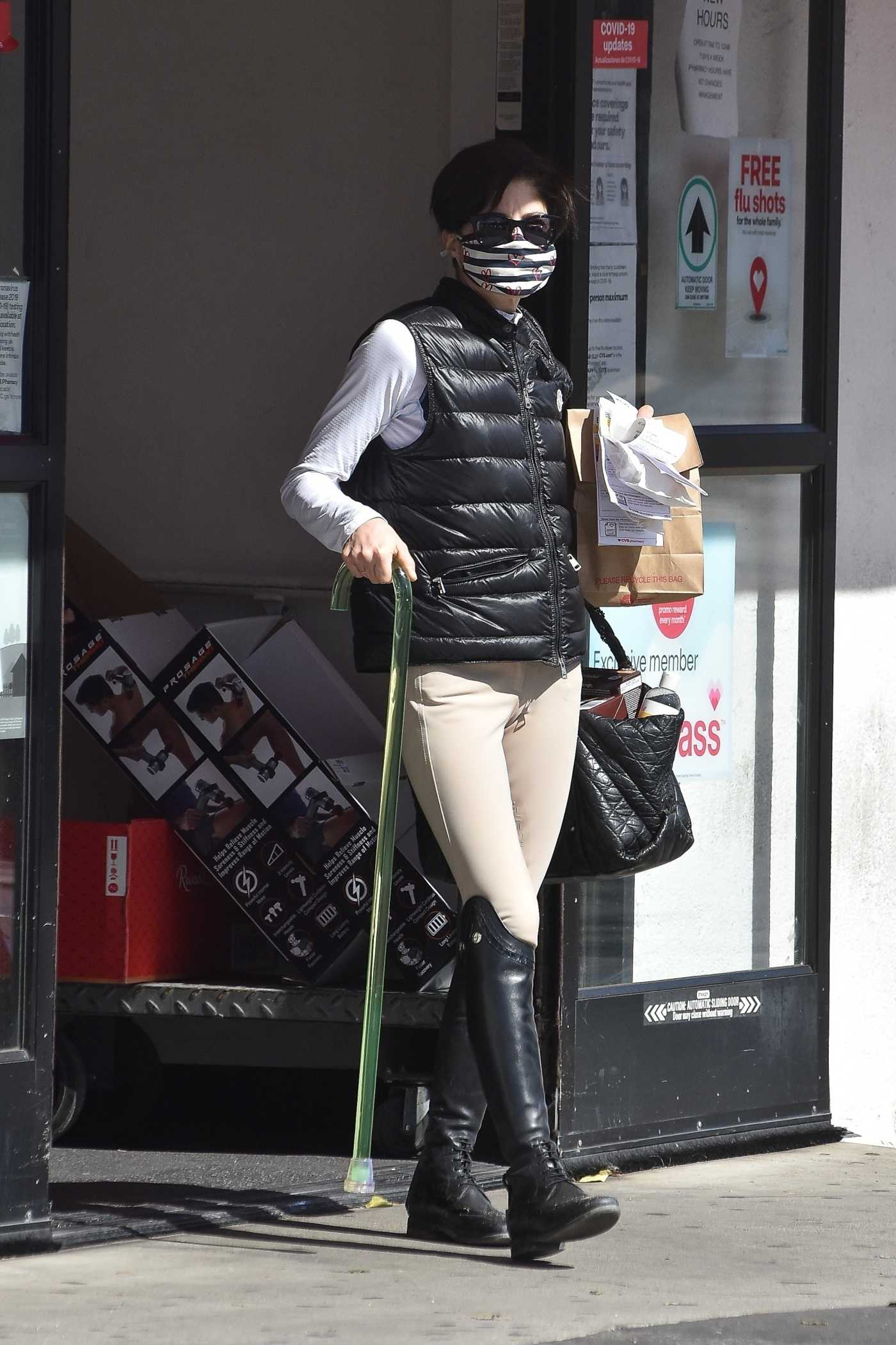 Selma Blair in a Horse Riding Gear Goes Shopping at CVS in Studio City 02/14/2021