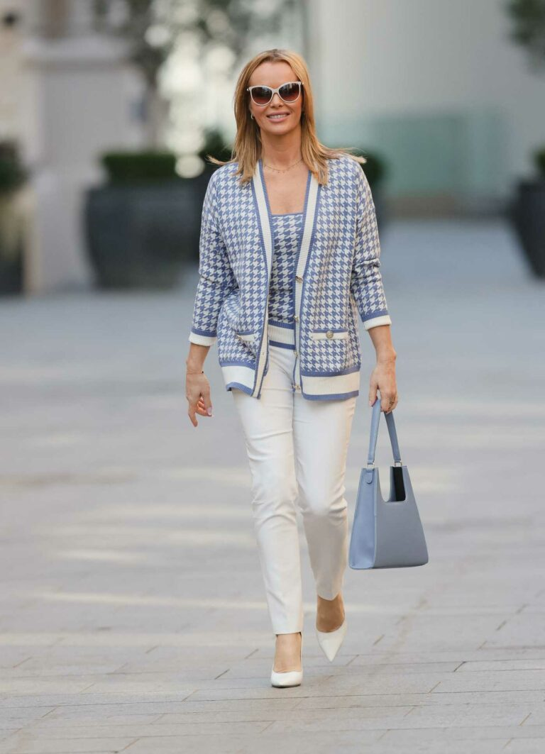 Amanda Holden in a White Pants