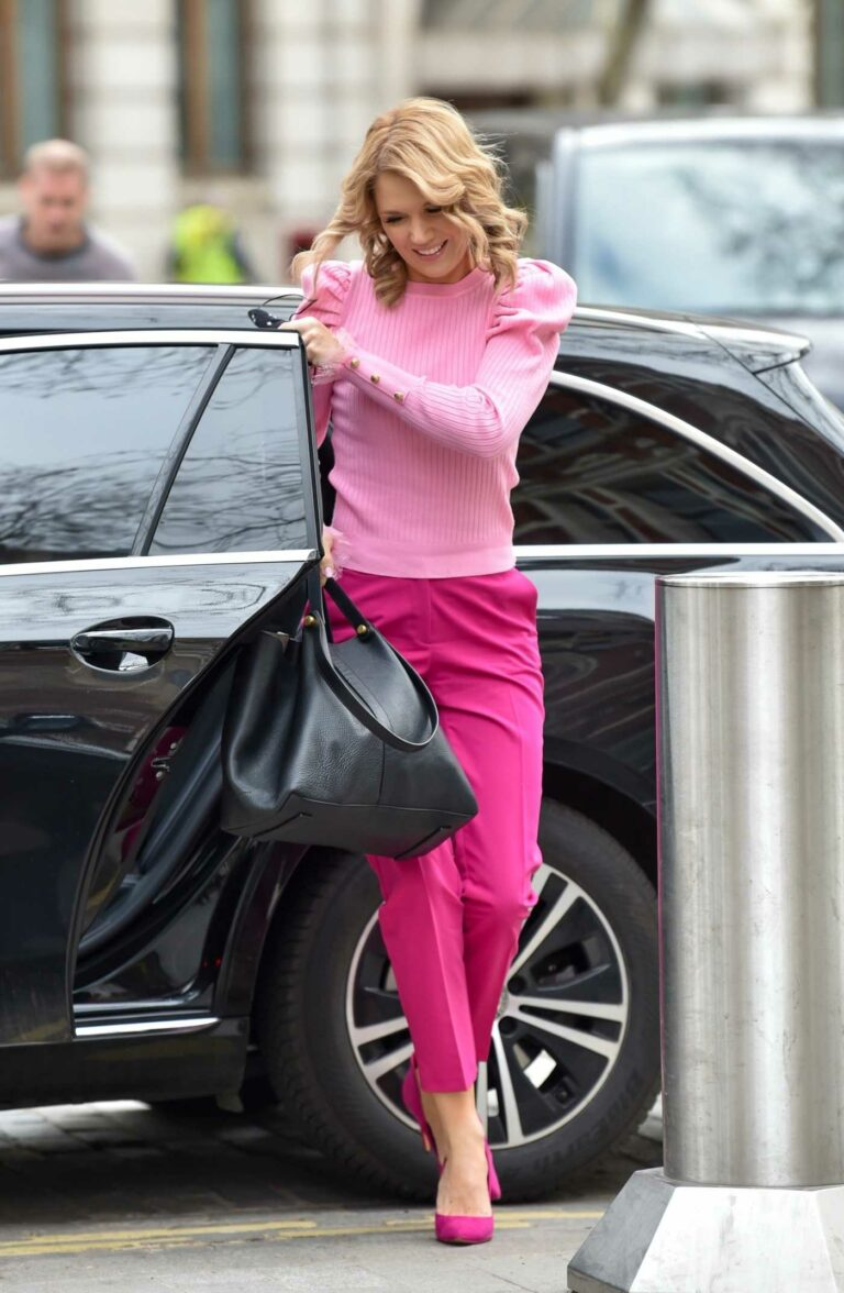 Charlotte Hawkins in a Pink Outfit