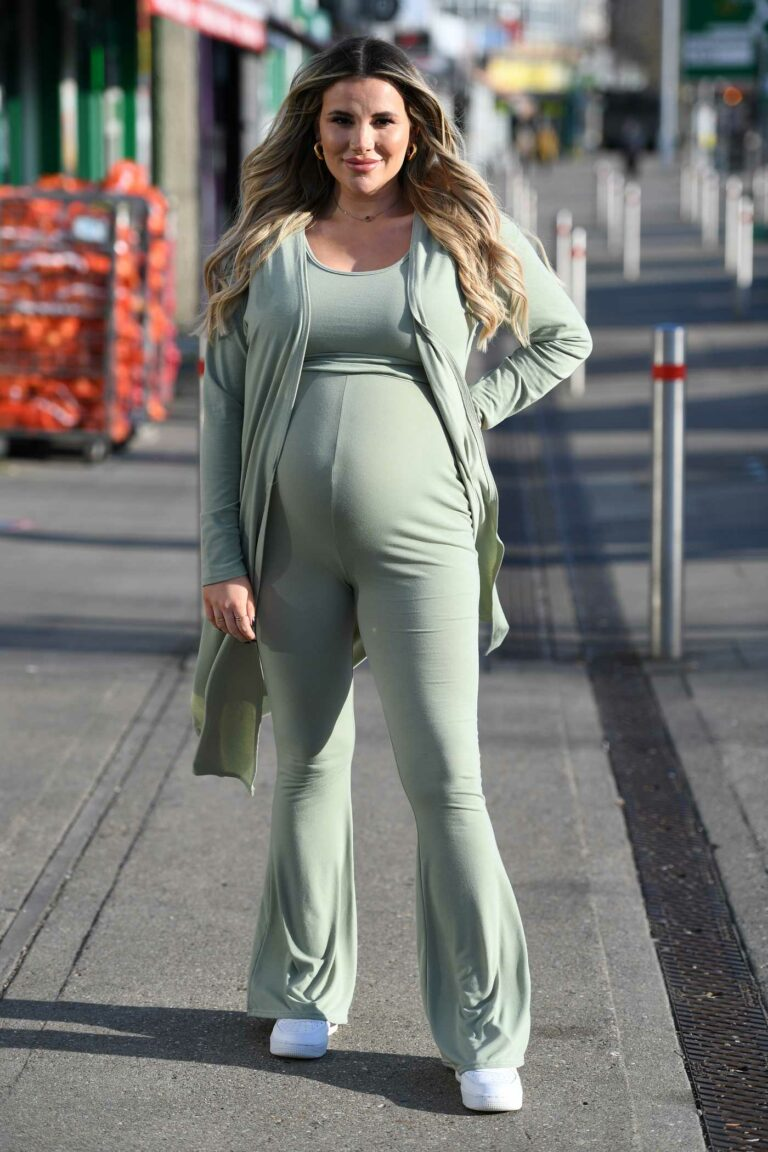 Georgia Kousoulou in an Olive Outfit