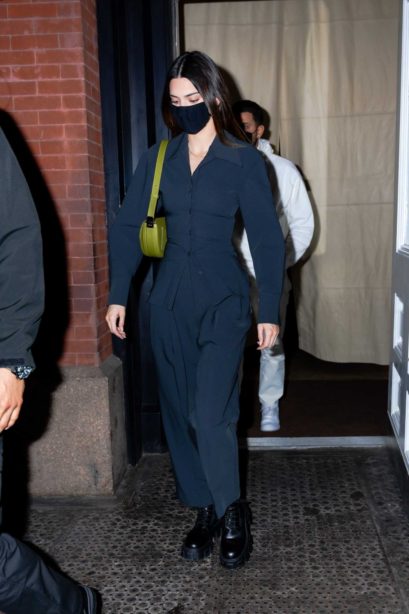 Kendall Jenner in a Black Boots Heads Out to Eat at Nobu in New York  03/20/2021