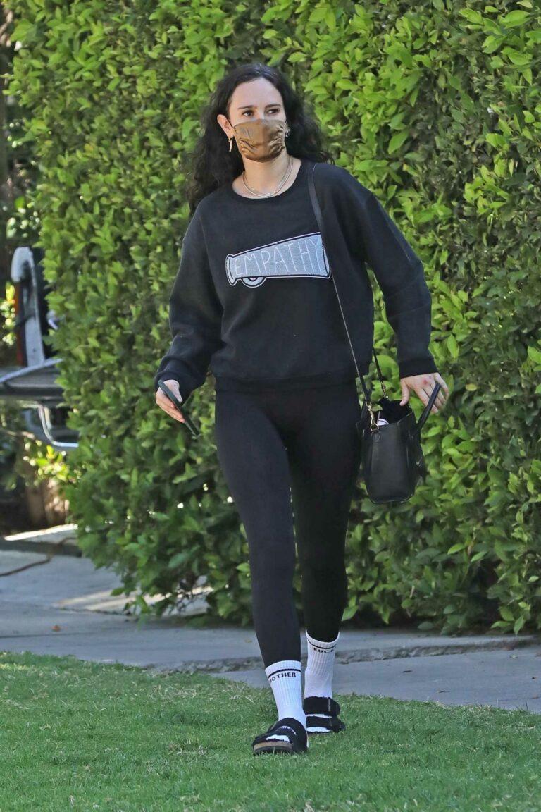 Rumer Willis in a Black Sweatshirt