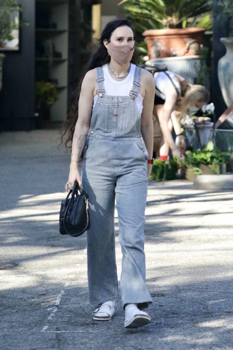 Rumer Willis in a Grey Jumpsuit