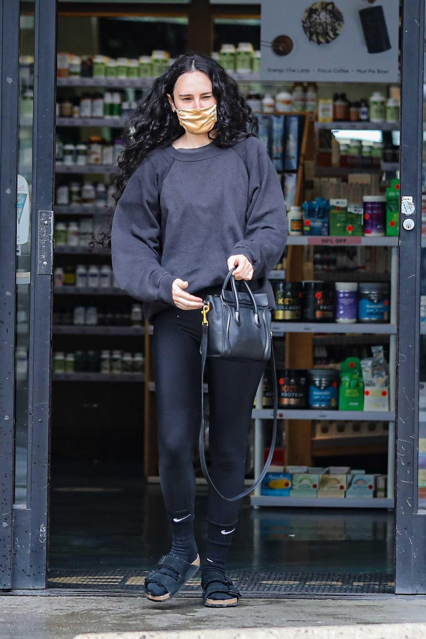 Rumer Willis in a Grey Sweatshirt Goes Shopping in West Hollywood 03/15/2021