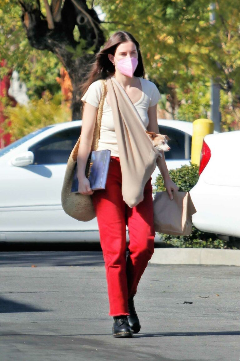 Scout Willis in a Red Pants