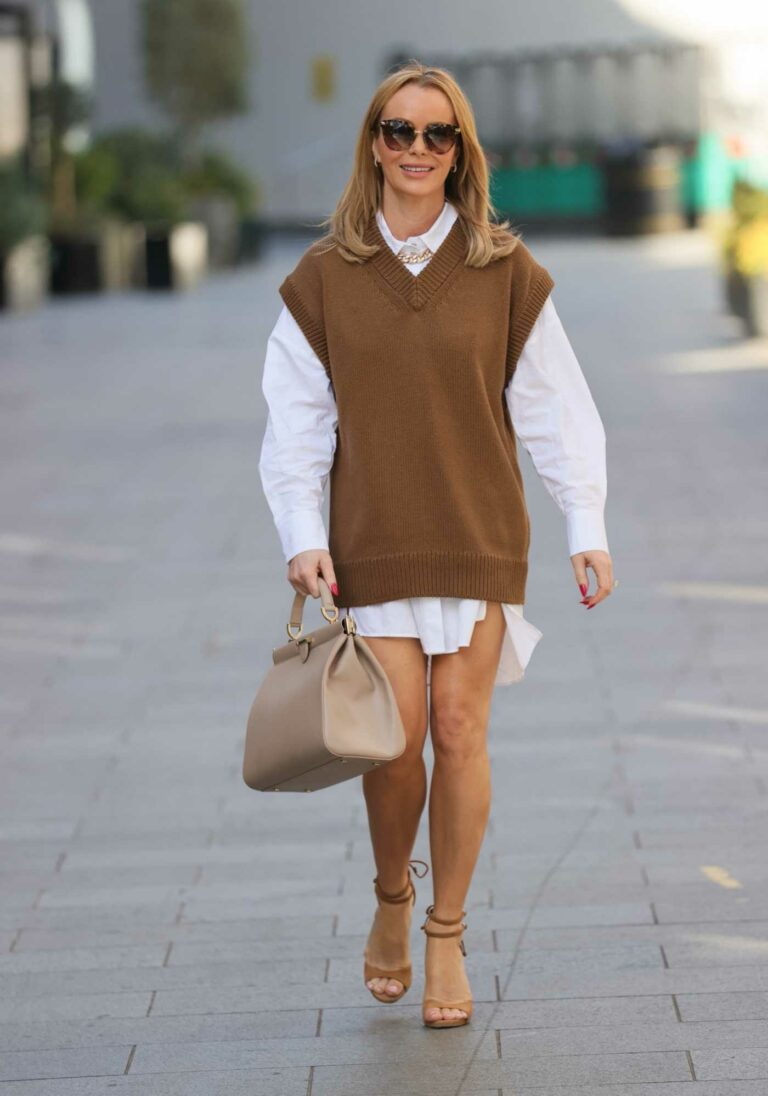 Amanda Holden in a White Shirt