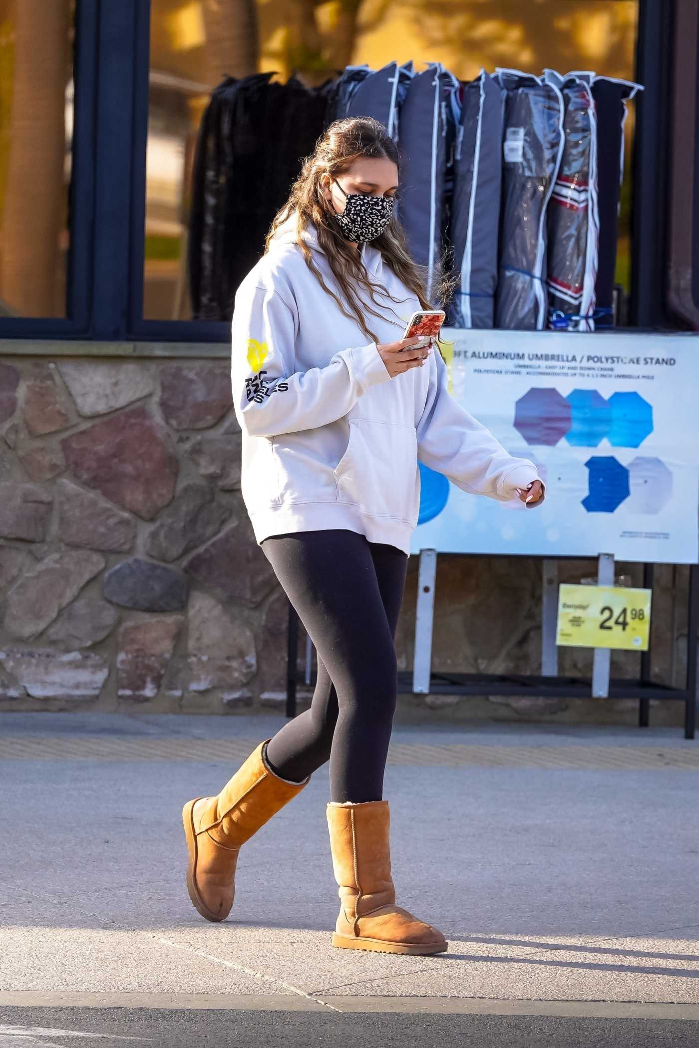 April Love Geary in a White Hoodie Goes Grocery Shopping in Malibu 04/13/2021