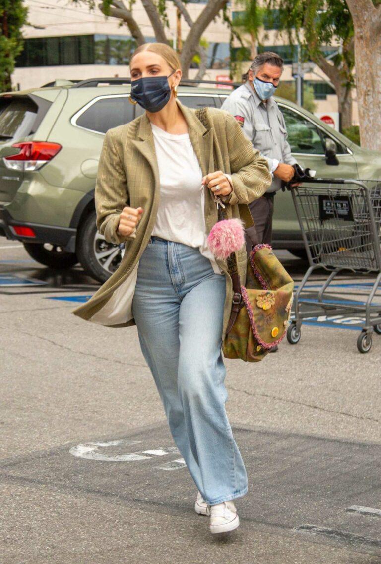 Ashlee Simpson in a Plaid Blazer