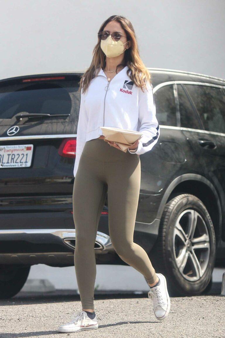 Eiza Gonzalez in an Olive Leggings