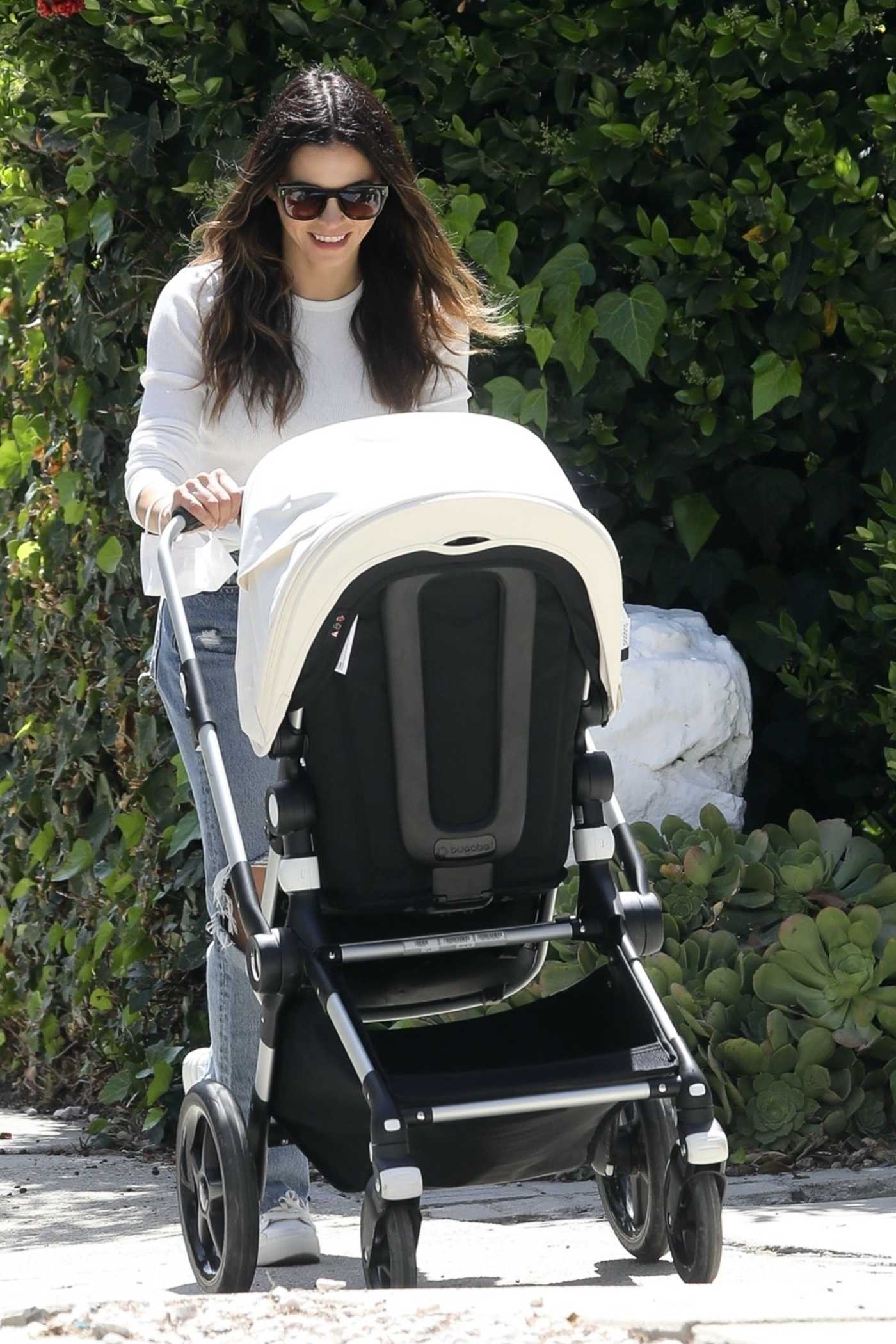 Jenna Dewan Goes for a Stroll with Her Baby Boy and Steve Kazee in Los Angeles 04/15/2021