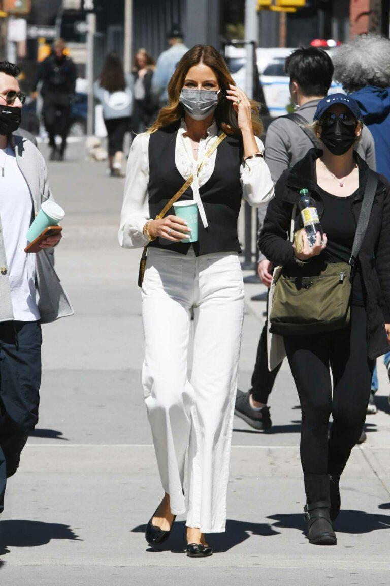 Kelly Bensimon in a White Blouse