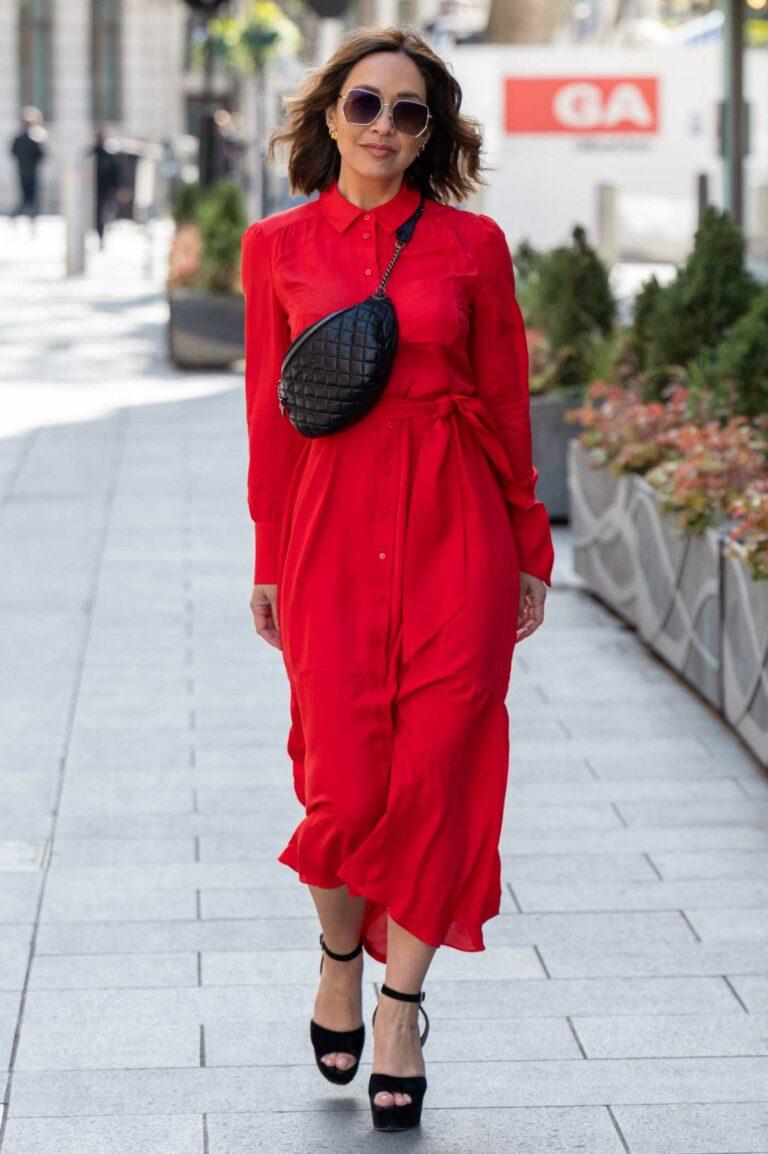 Myleene Klass in a Red Dress