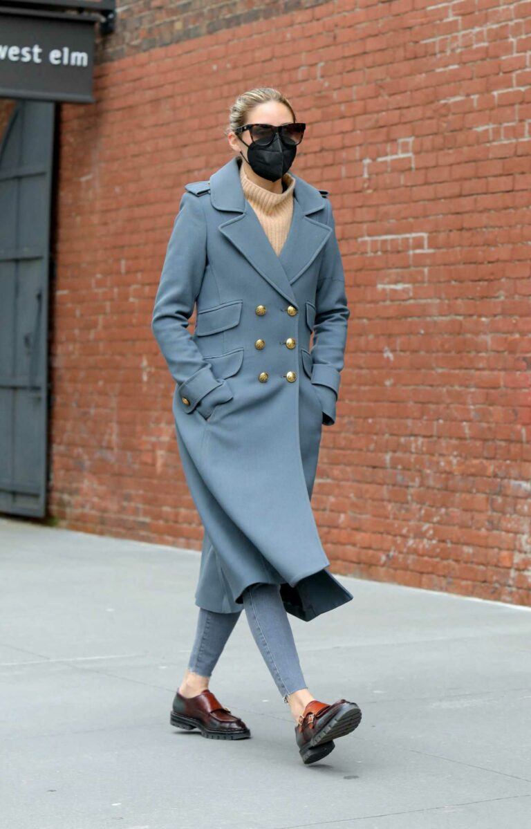 Olivia Palermo in a Grey Coat
