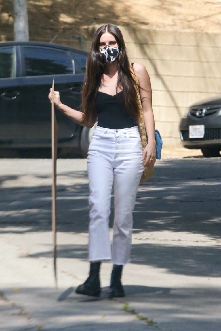 Scout Willis in a White Pants