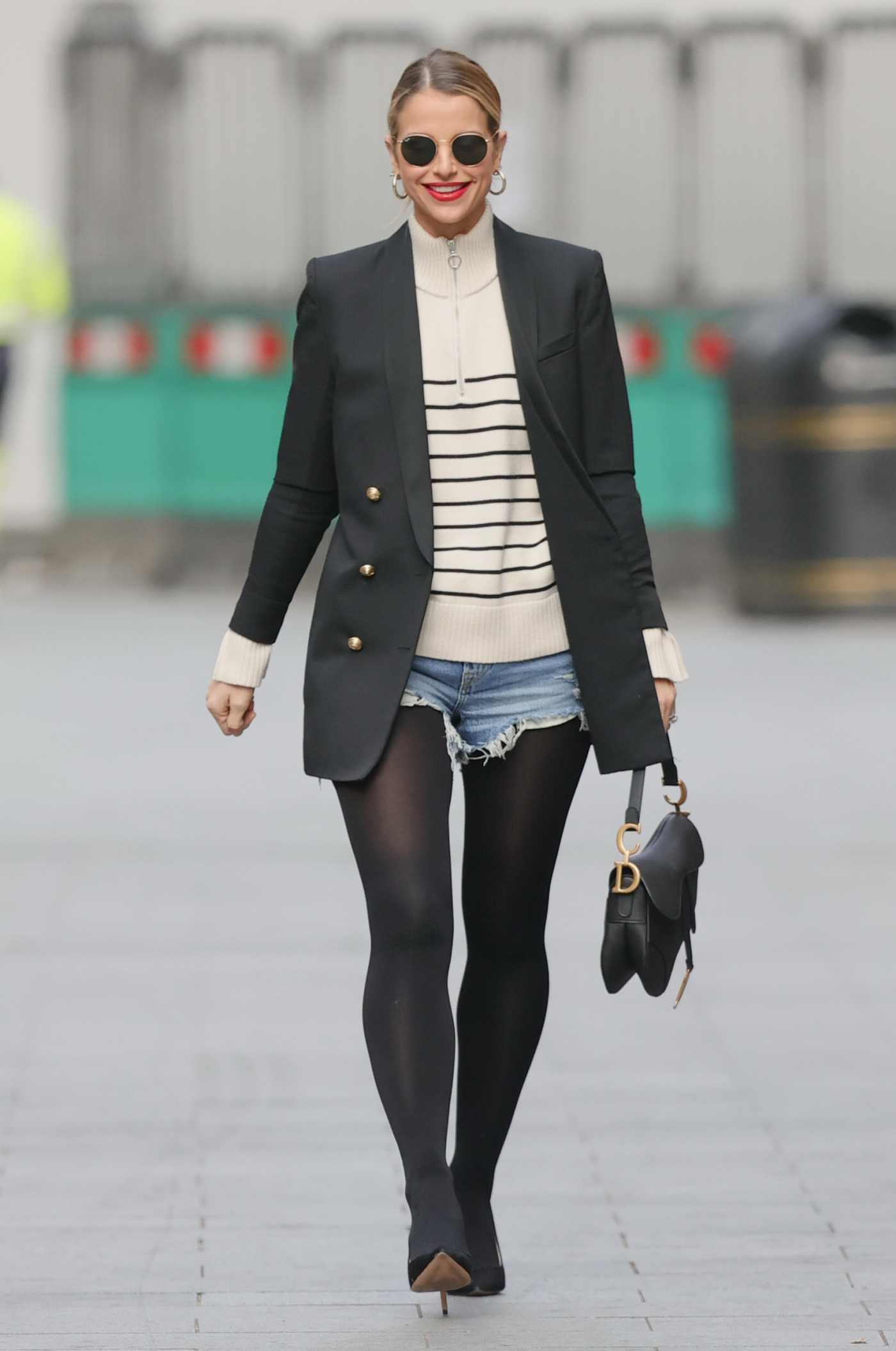 Vogue Williams in a Black Blazer Was Seen Out in London 04/04/2021