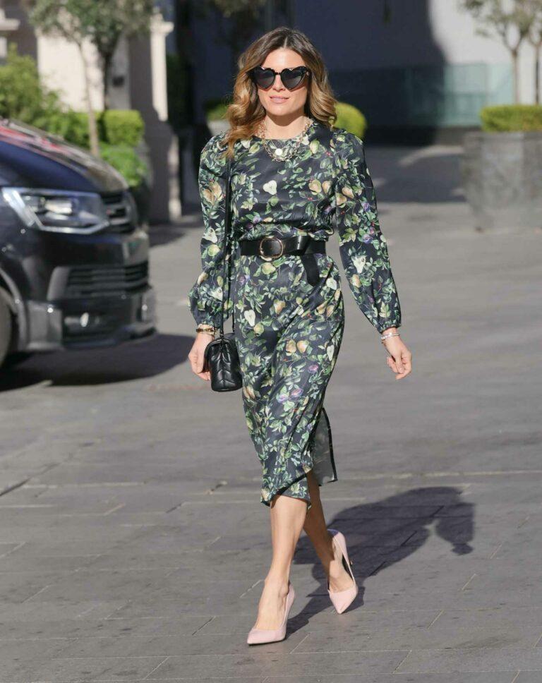 Zoe Hardman in a Green Floral Summer Dress