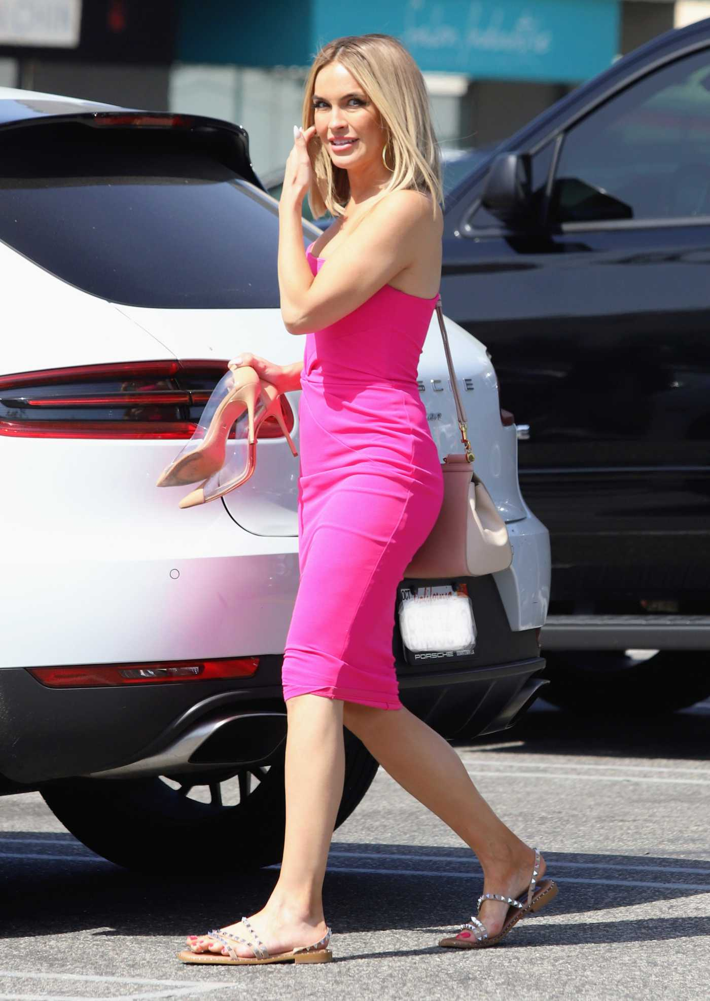 Chrishell Stause in a Pink Dress Was Seen Out in West Hollywood 05/20/2021