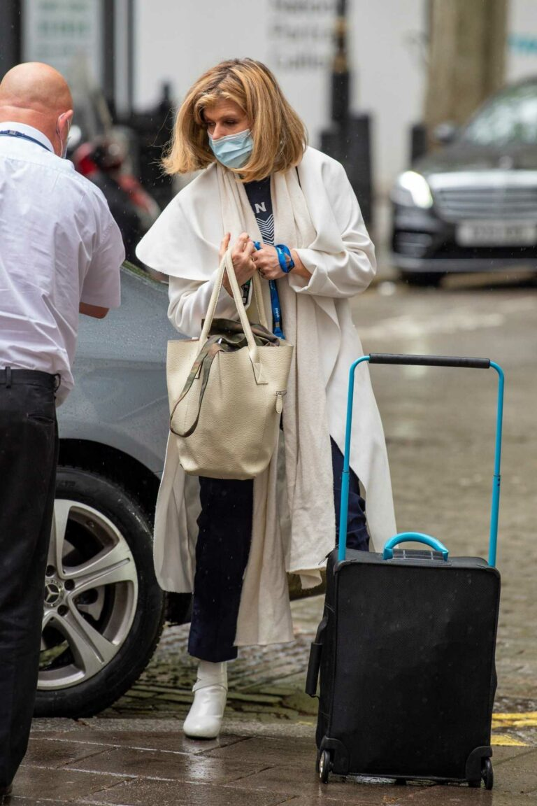 Kate Garraway in a White Trench Coat