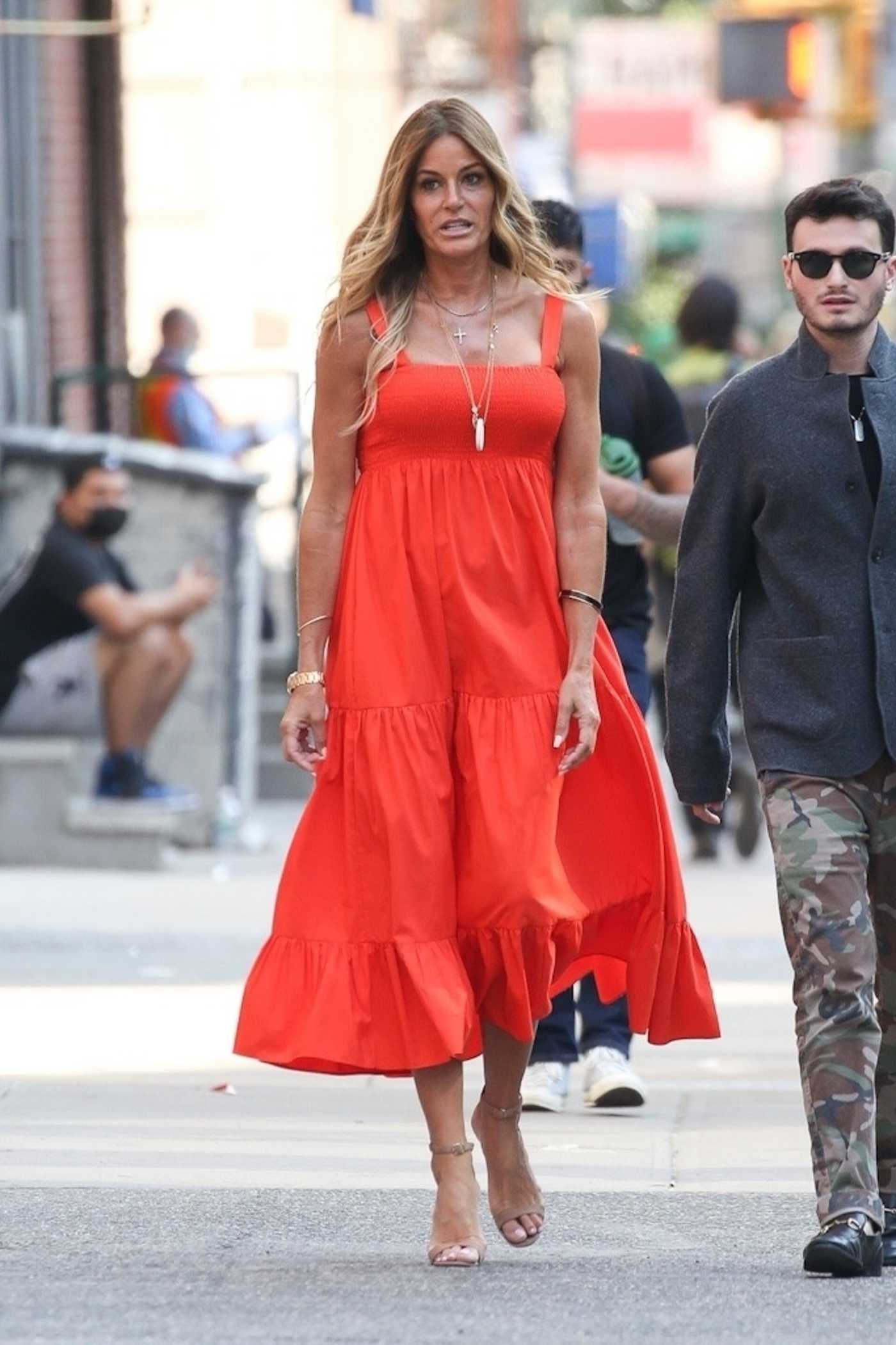 Kelly Bensimon in a Red Dress Was Seen Out in New York 05/20/2021