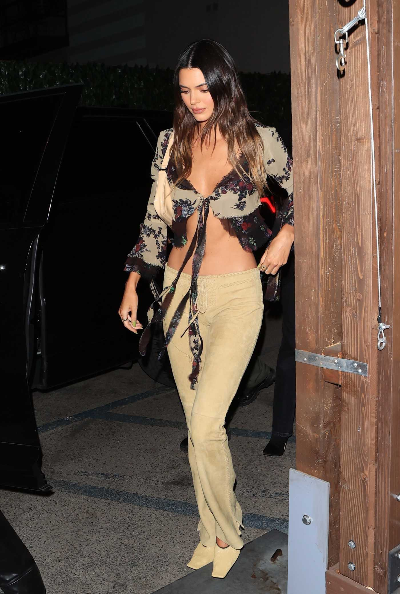 Kendall Jenner in a Yellow Pants Leaves The Nice Guy in West Hollywood 05/21/2021