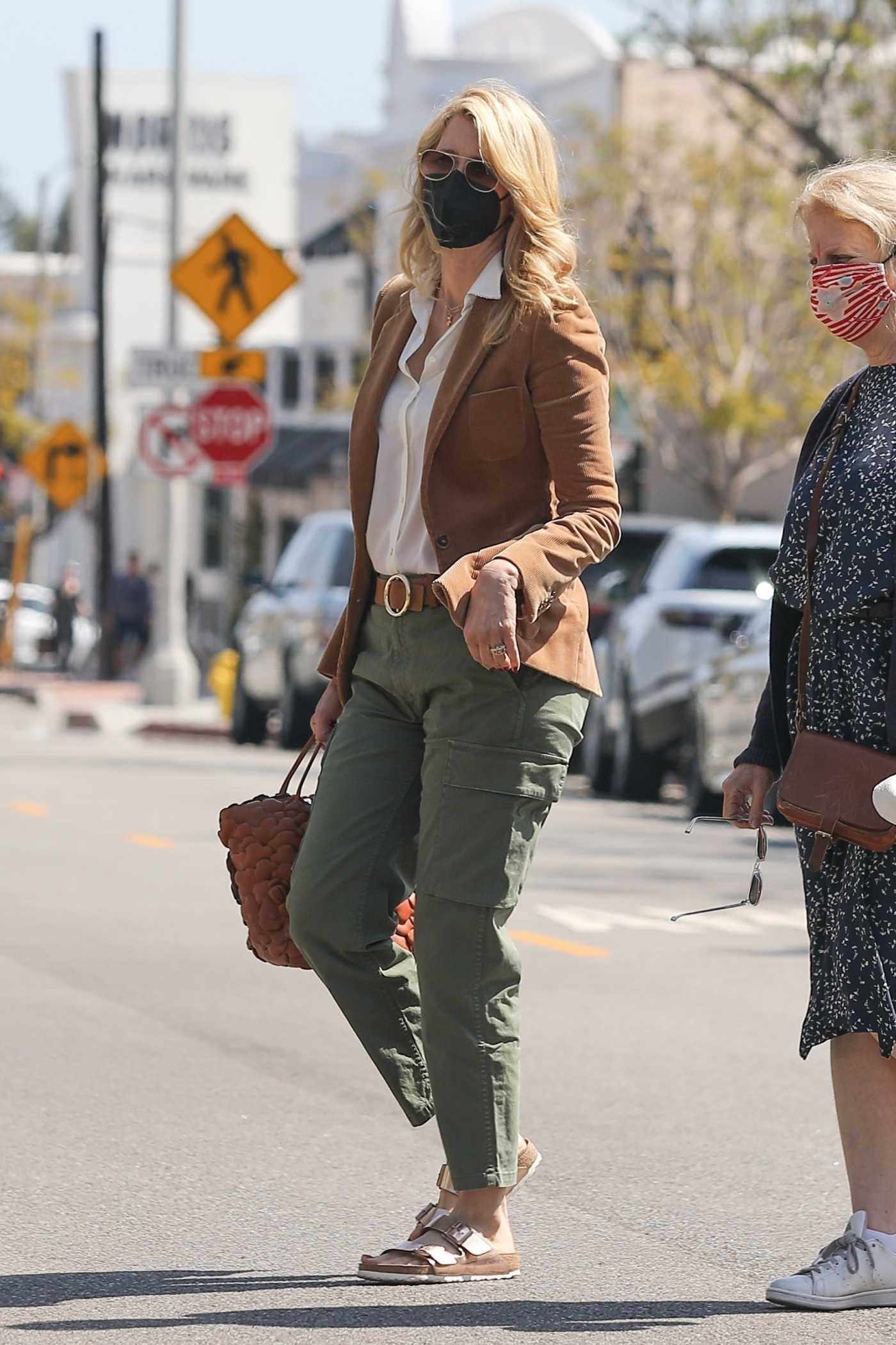 Laura Dern in an Olive Pants Was Seen Out in Pacific Palisades 05/02/2021
