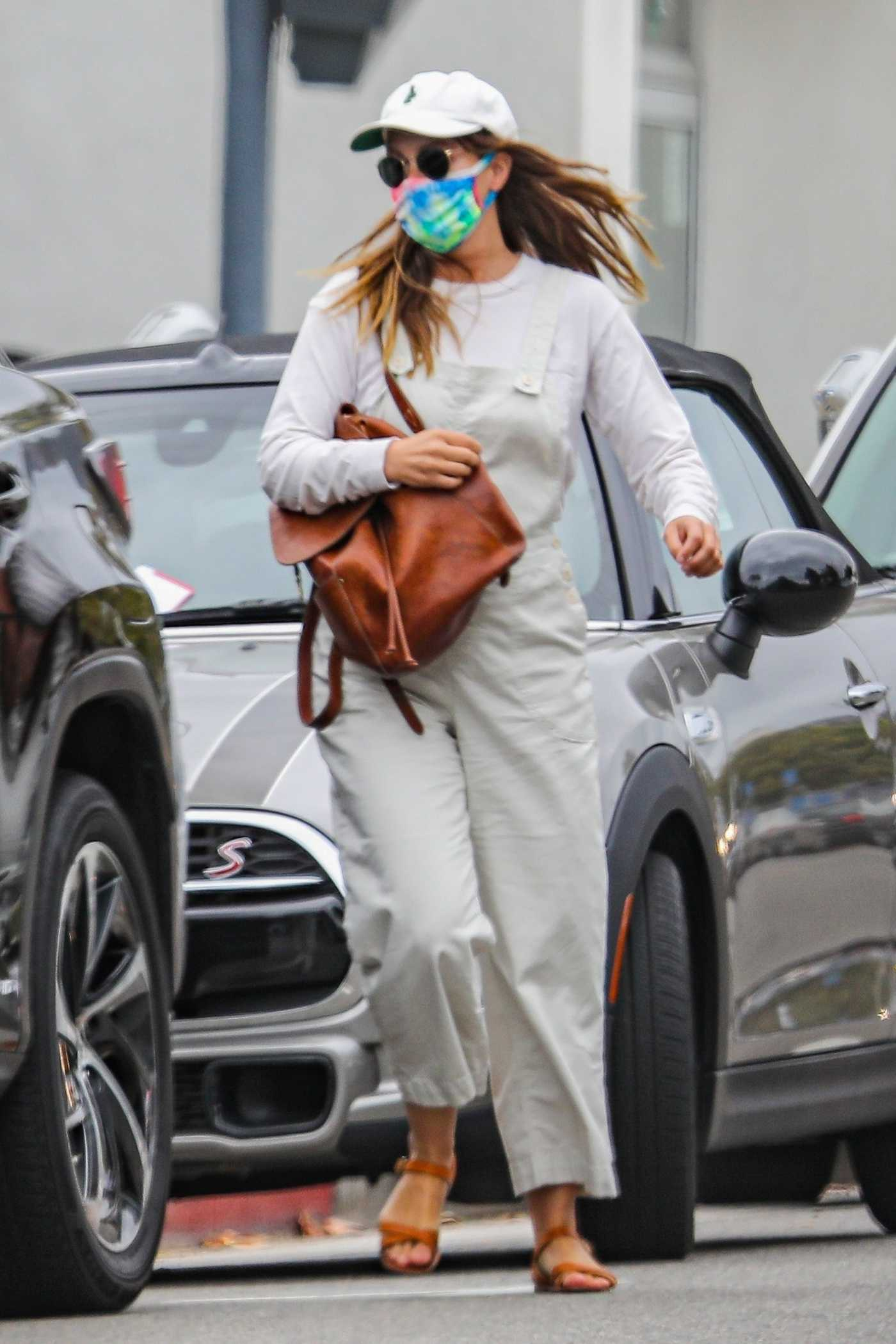Leighton Meester in a White Cap Was Seen Out in Pacific Palisades 05/10/2021