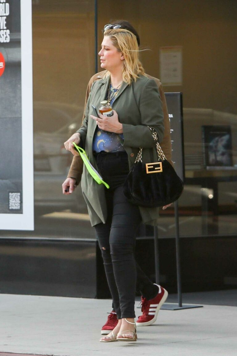 Mischa Barton in an Olive Jacket