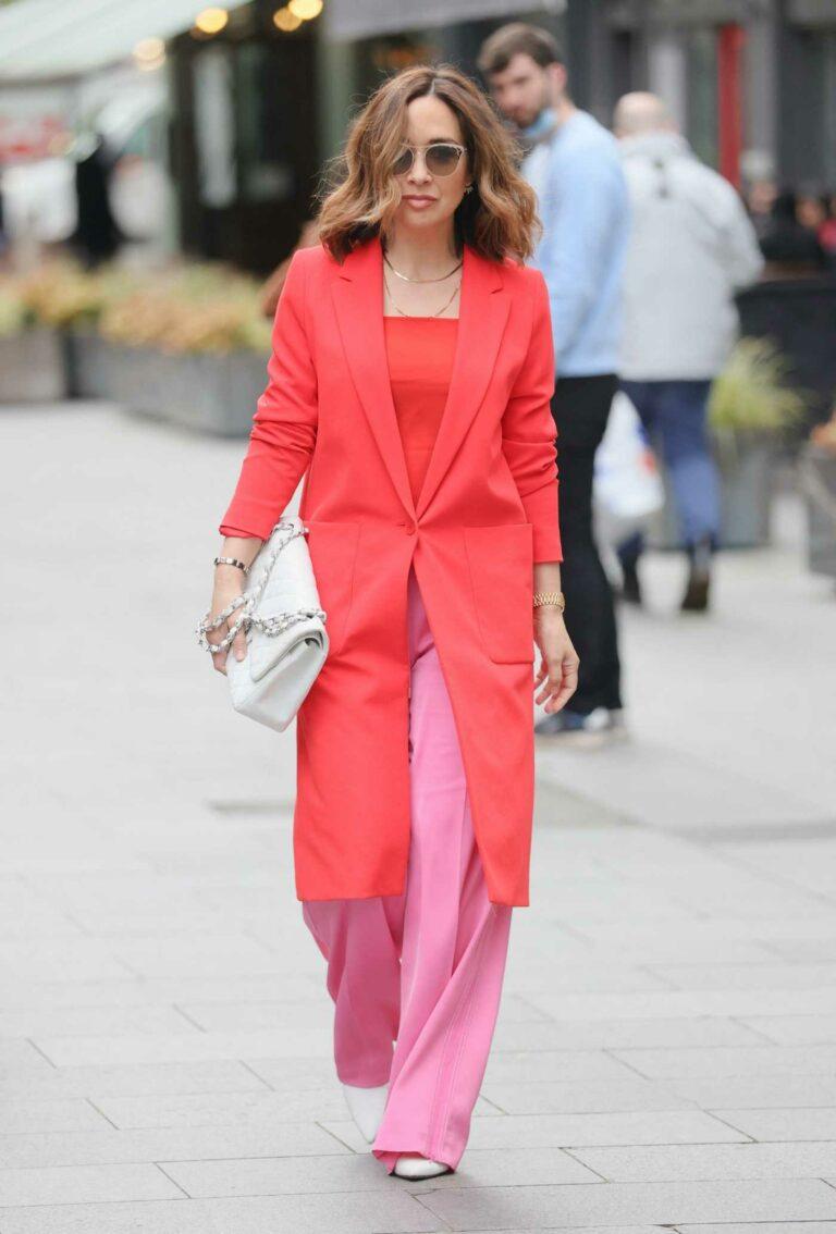 Myleene Klass in a Red Coat