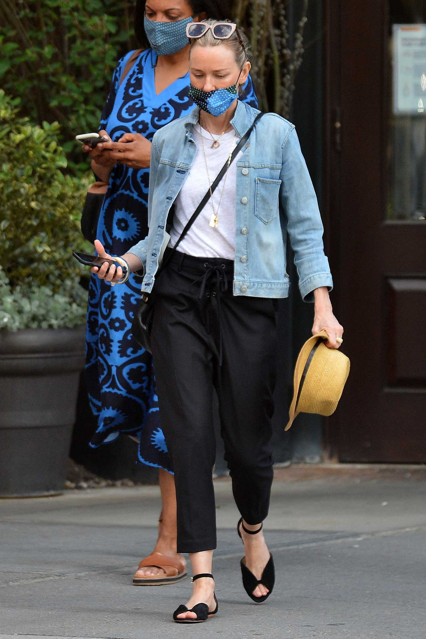 Naomi Watts in a Blue Denim Jacket Was Seen Out in New York 05/18/2021