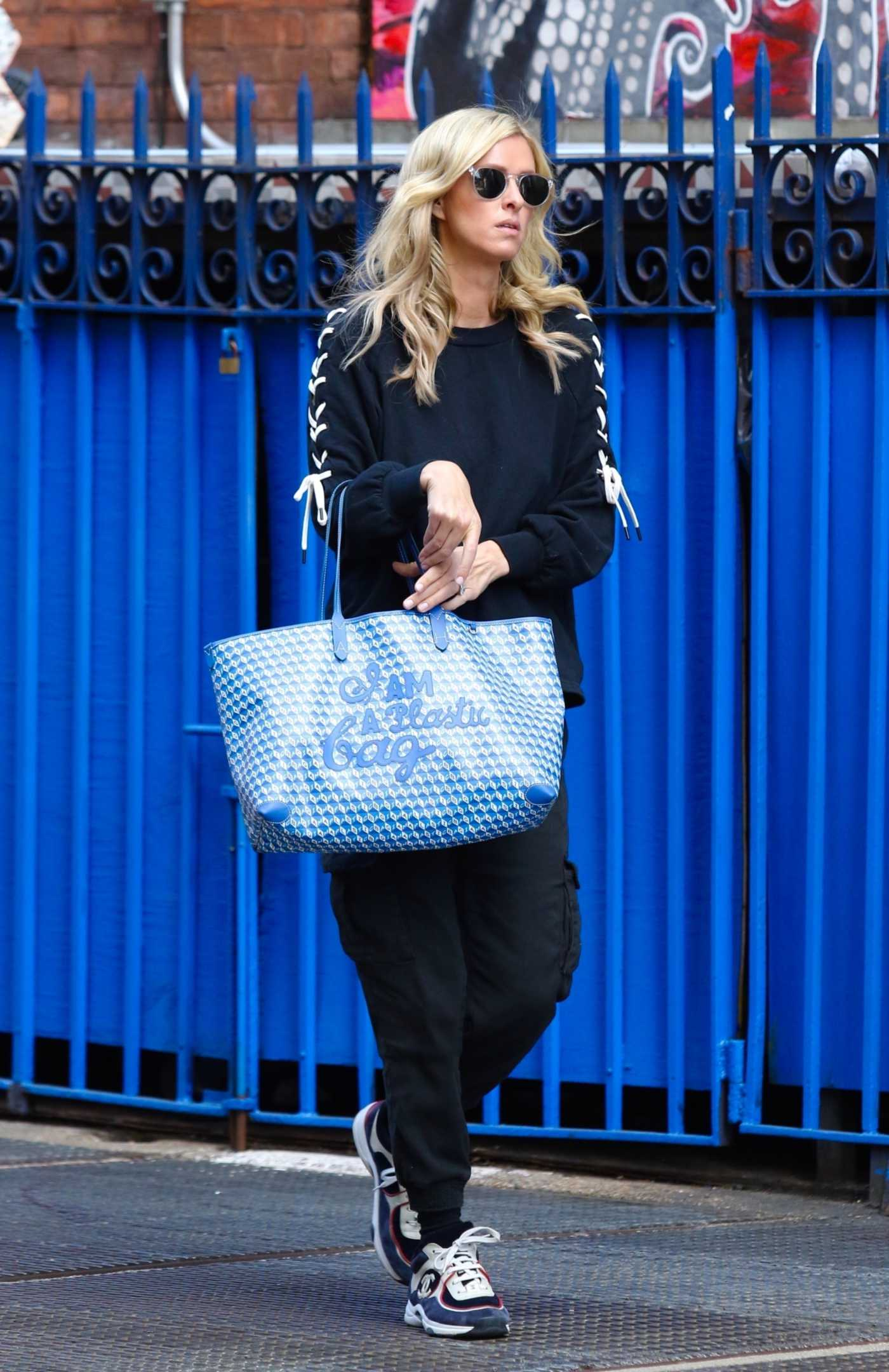 Nicky Hilton in a Black Outfit Was Seen Out in New York City 05/13/2021