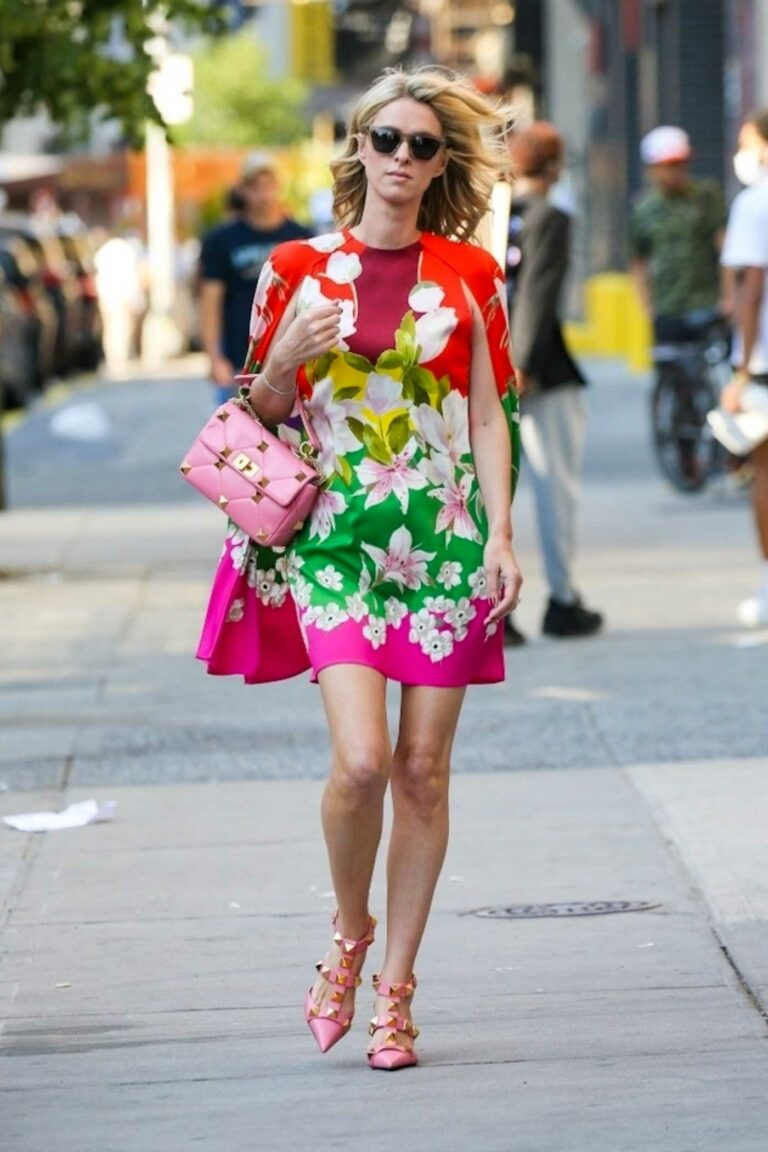 Nicky Hilton in a Colorful Dress