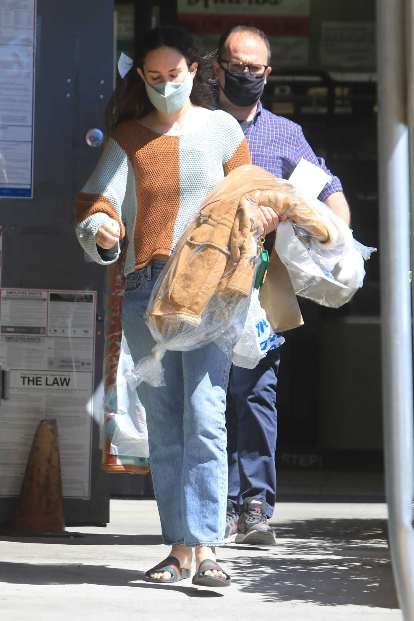 Rumer Willis in a Protective Mask Picks up Her Dry Cleaning in West Hollywood 04/29/2021