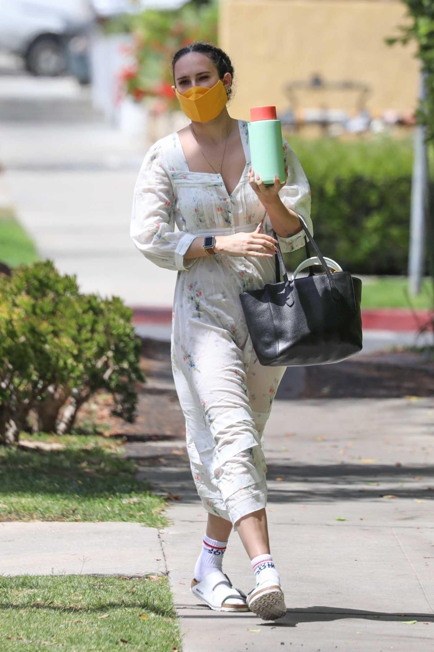 Rumer Willis in a White Floral Dress Was Seen Out in West Hollywood 05/20/2021