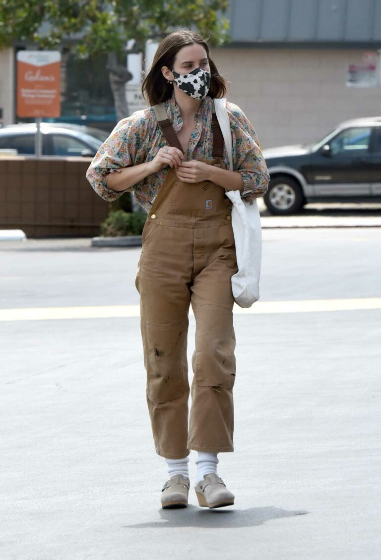 Scout Willis in a Tan Jumpsuit