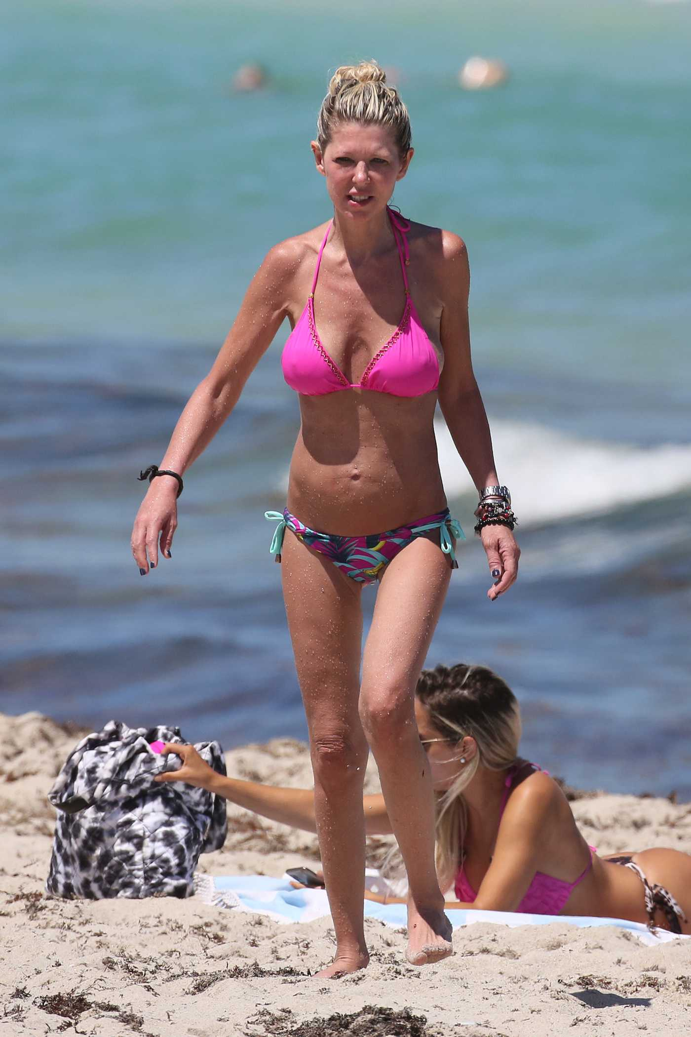 Tara Reid in a Lilac Bikini on the Beach in Miami 05/11/2021