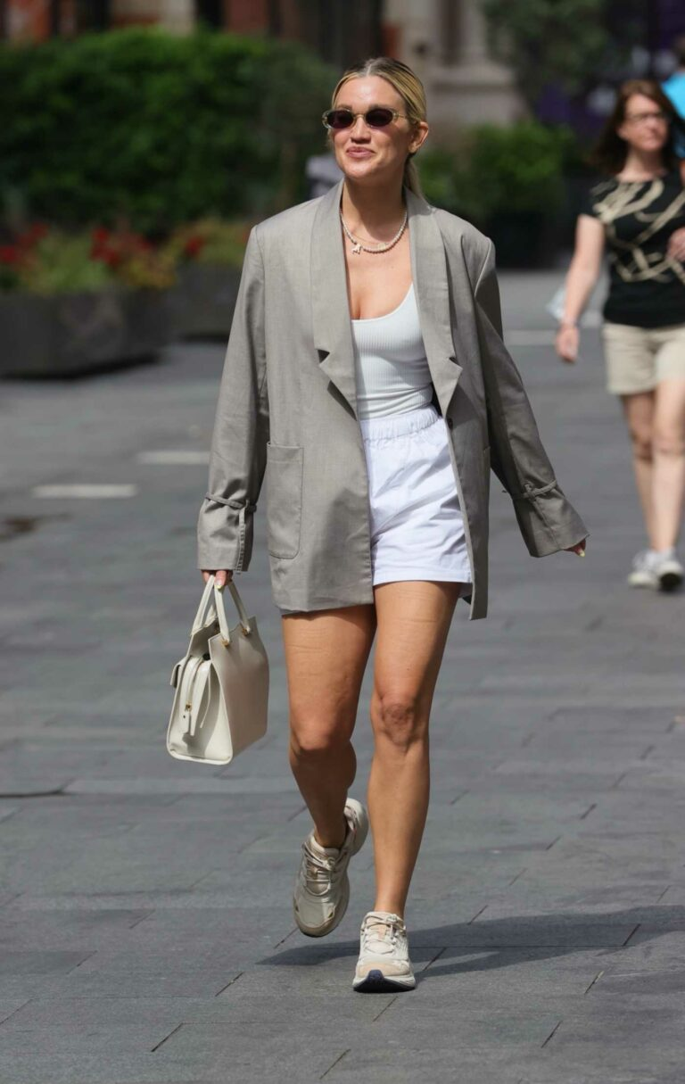 Ashley Roberts in a White Shorts