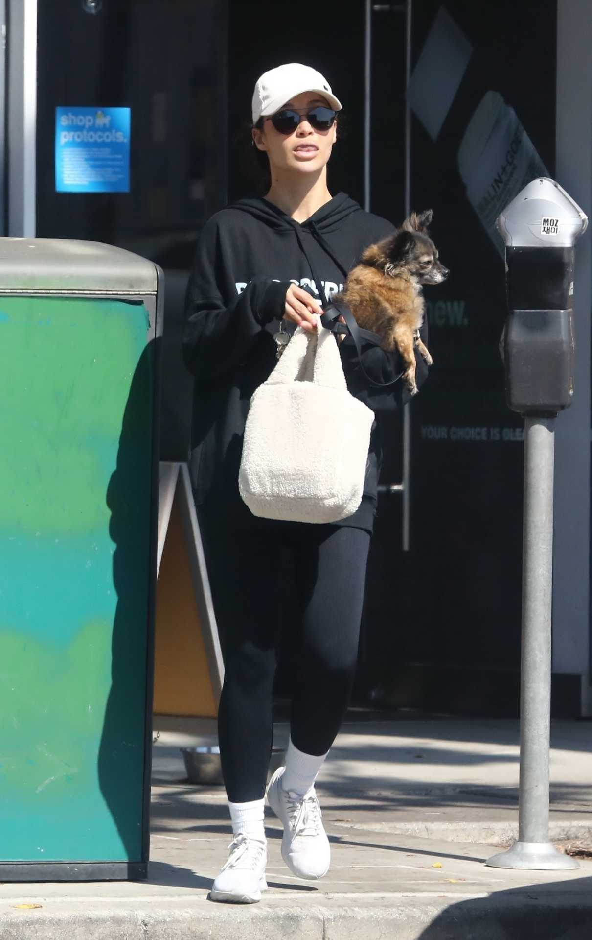 Cara Santana in a White Cap Was Seen with Her Dog in Los Angeles 06/03/2021