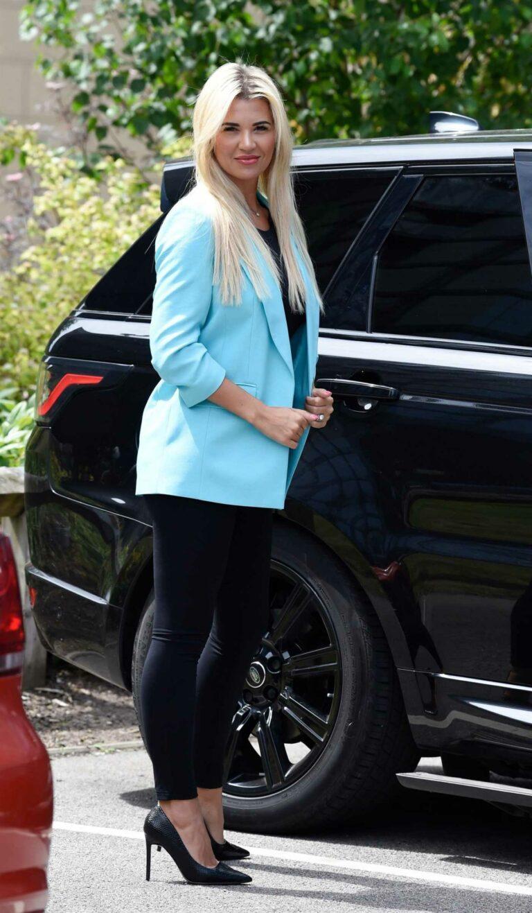 Christine McGuinness in a Baby Blue Blazer