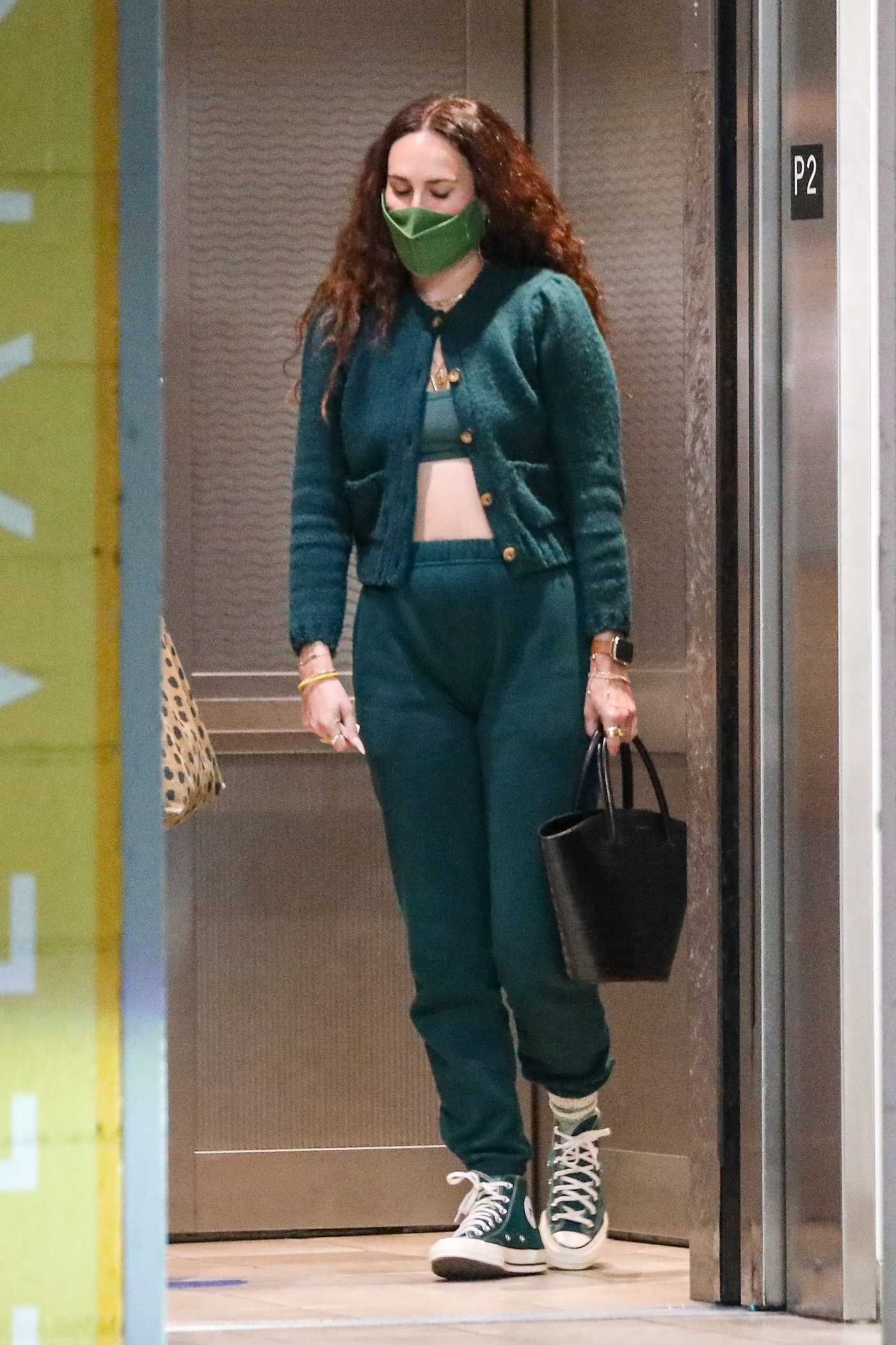 Rumer Willis in a Green Ensemble Leaves Trader Joe's in West Hollywood 06/09/2021