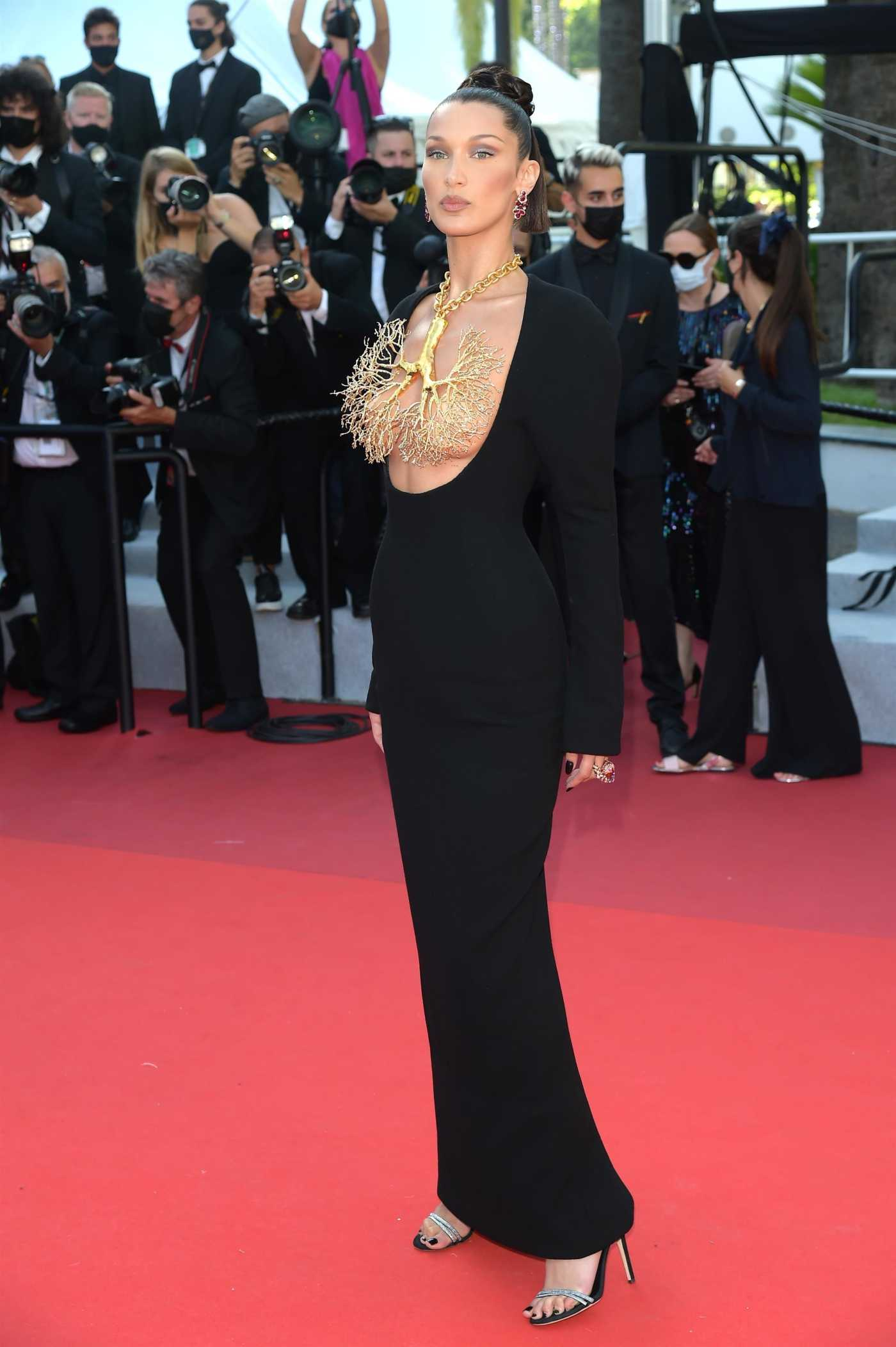 Bella Hadid Attends Tre Piani Screening During the 74th Annual Cannes Film Festival in Cannes 07/11/2021