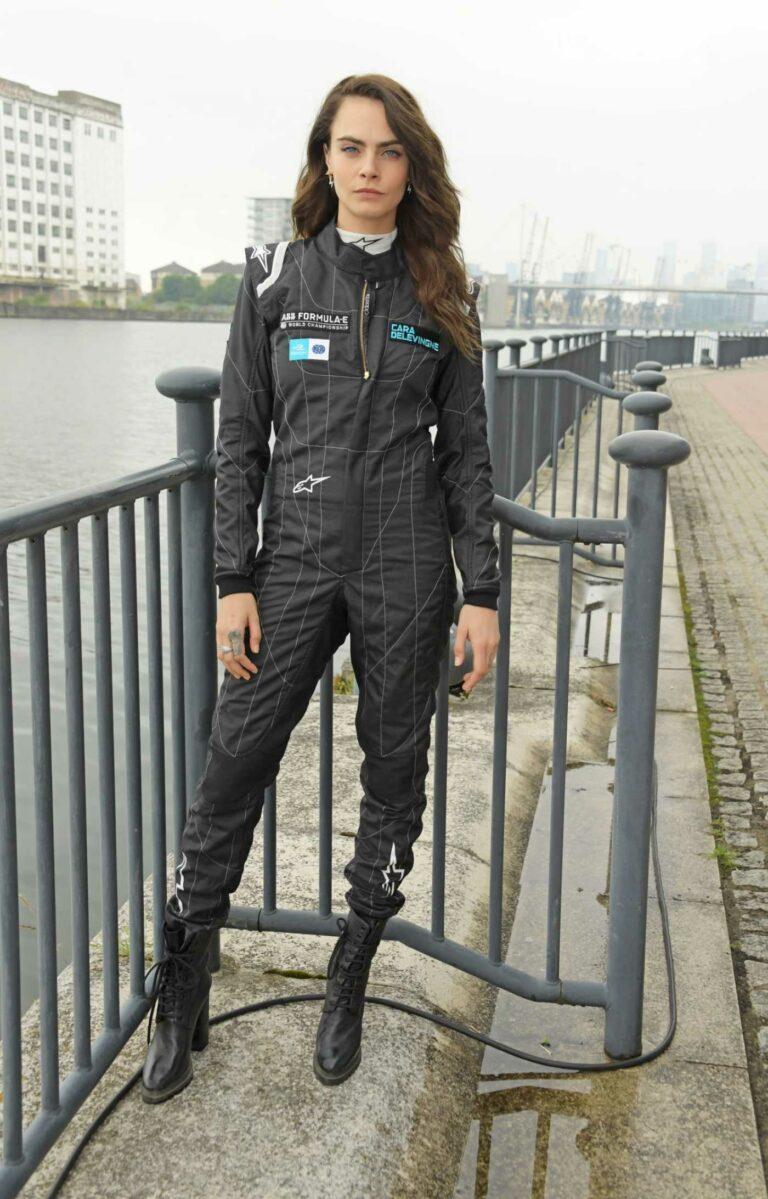 Cara Delevingne in a Black Jumpsuit