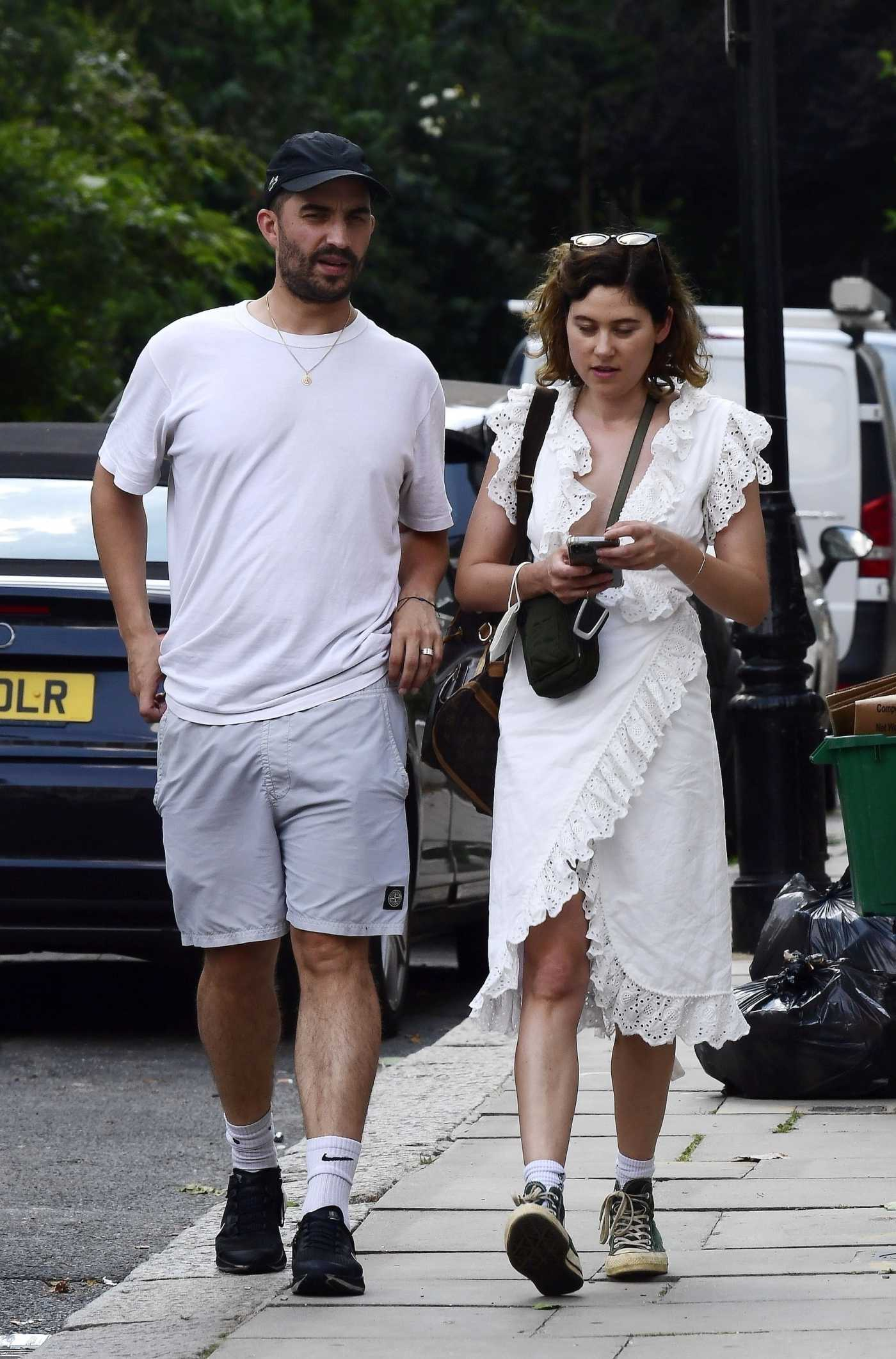Eliza Doolittle in a White Dress Was Seen Out with a Mystery Man in North London 07/20/2021