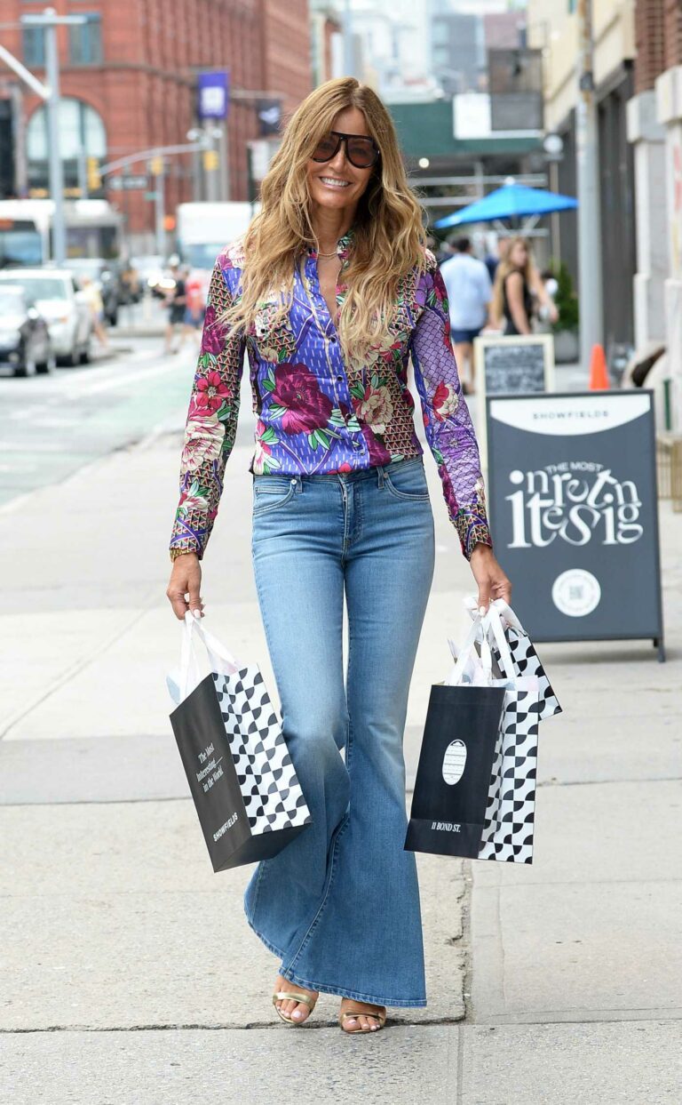 Kelly Bensimon in a Floral Shirt