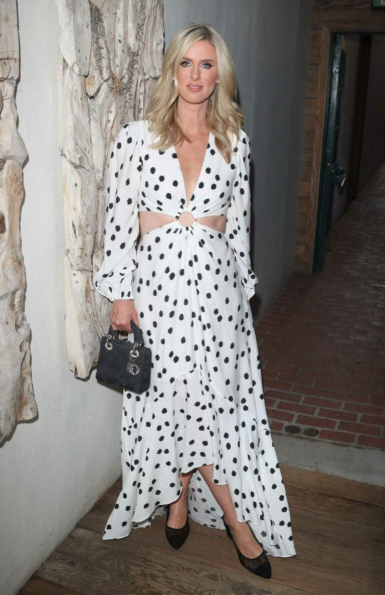 Nicky Hilton in a White Polka Dot Dress