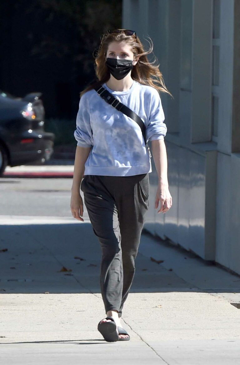 Anna Kendrick in a Black Protective Mask