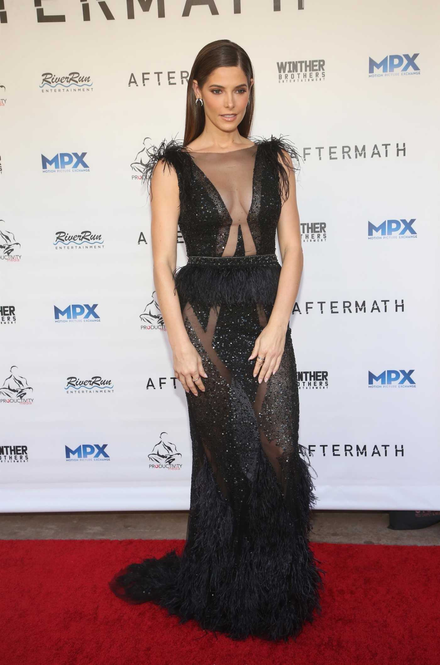 Ashley Greene Attends the Aftermath Premiere in Los Angeles 08/03/2021